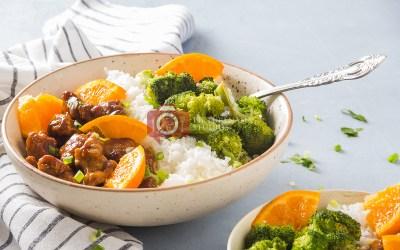 Orange Chicken Rice Bowl- The Quick-fix for Weeknight Dinner