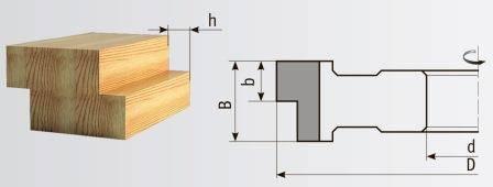 01-248.1 Фреза 125*32*60 мм для выборки четверти