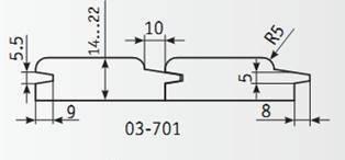 03-701 Комплект фрез 160*40 мм для вагонки
