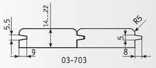 03-703 Комплект фрез 130*32 мм для вагонки