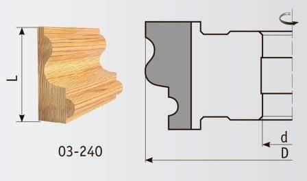 03-240 Фреза 160*40 мм для плинтуса