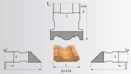 03-216 Комплект фрез 160*40 мм для плинтуса