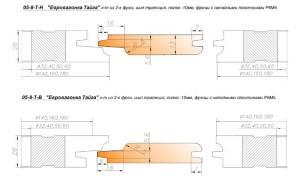 05-8-ТВ комплект фрез для изготовления вагонки 160*40