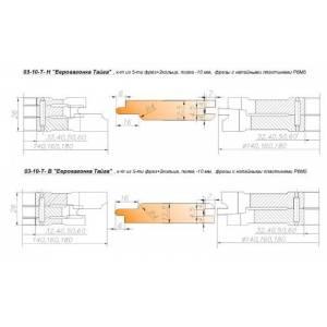03-10-Т-Н комплект фрез для изготовления вагонки