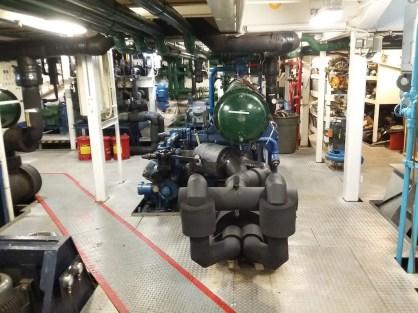The engine room.