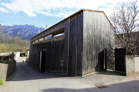 Estudio del arquitecto en Haldenstein, en los Grisones