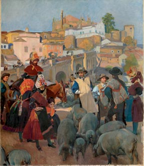 Extremadura, el mercado, 1917