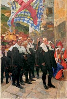 Navarra, el Concejo del Roncal, 1914