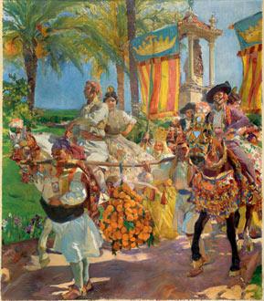 Valencia, las grupas, 1916