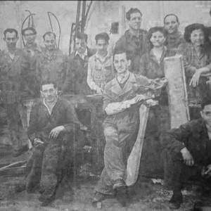 Personal de las cocheras 1955