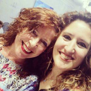 Con Anabel Santiago