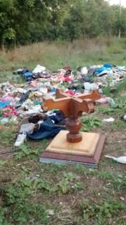 Una delle discariche nel parco Centocelle
