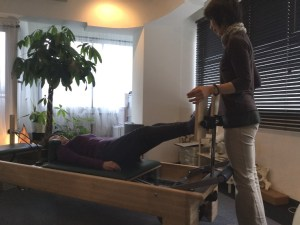 Pilates Equipment Machine Excecise Trial Footprints T-bar ピラティス マシン エクササイズ 体験会 フットプリント Tバー