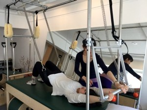 Pilates Equipment Machine Excecise Trial Trapeze Sling ピラティス マシン エクササイズ 体験会 トラピーズ スリング