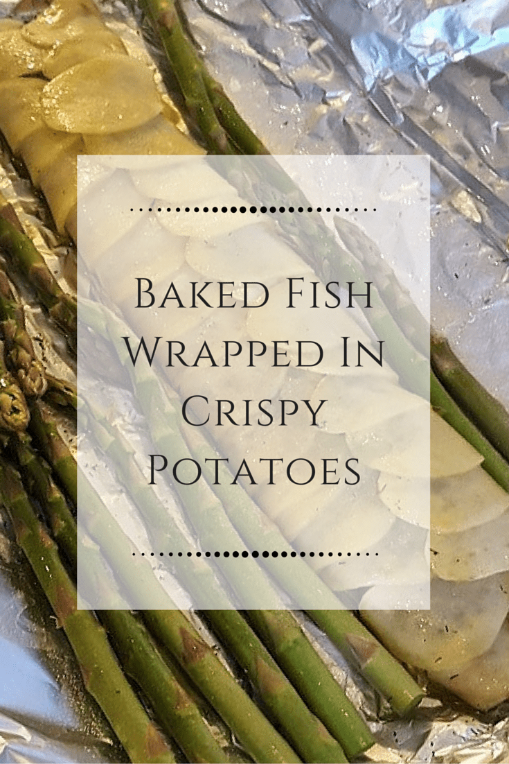 Baked Fish Wrapped in Crispy Potatoes