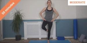 Standing and mat Pilates workout