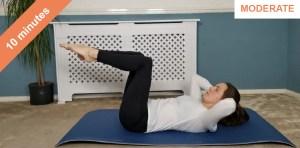 10 minute abs pilates class