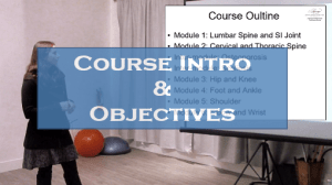 Course intro and objectives