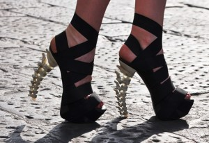 Dsquared stilettos with spine heel