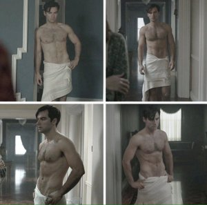 Aidan Turner, towel scene, And Then There Were None
