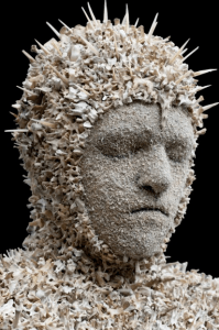 Bust made of bones