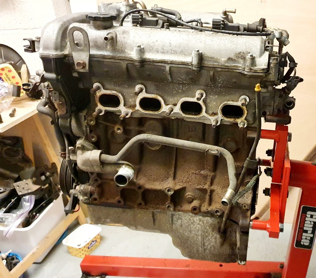 Mazda MX-5 VVTi 1.8l Engine Side View on Stand
