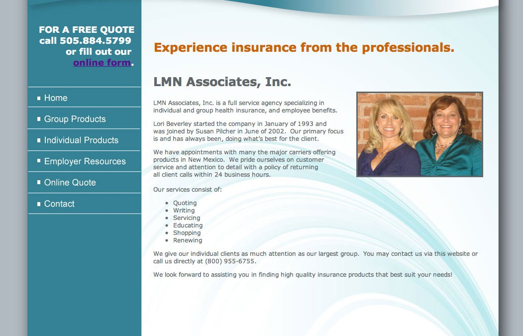 LMN Associates Inc. Website Design and Development