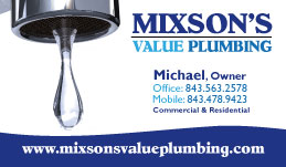 New Business Cards for Mixson's Value Plumbing