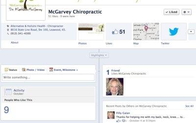 New Social Media for McGarvey Chiropractic