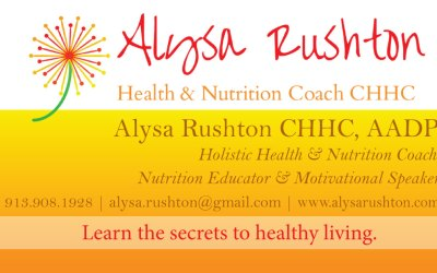 New Business Cards for Nutrition Coach Alysa Rushton