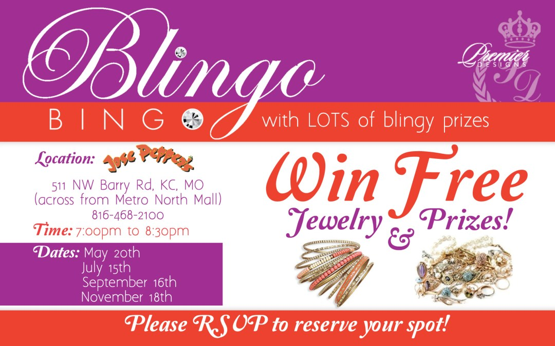 New Postcards for Blingo Bingo with Premiere Jewelry