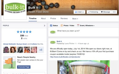 New Social Media Pages for Bulk It