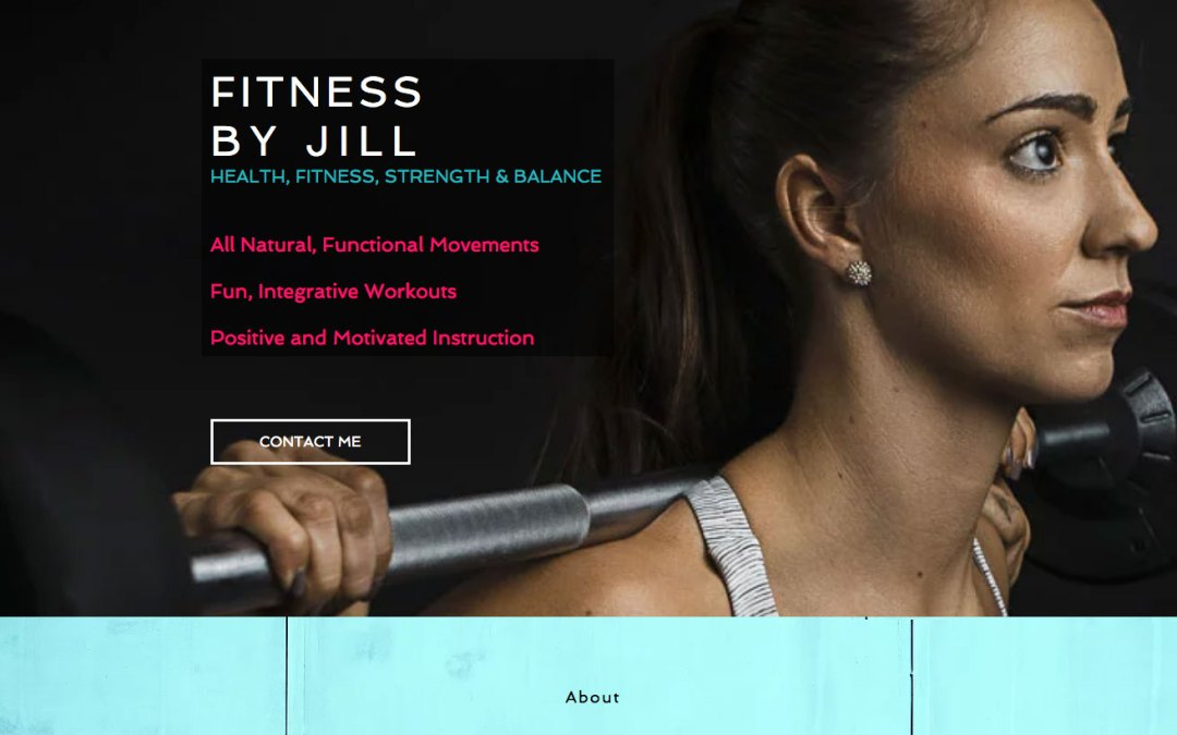New Website for Fitness By Jill