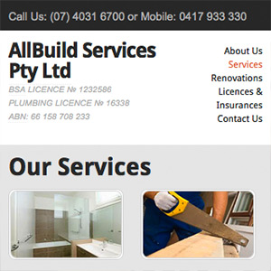 Allbuild mobile view