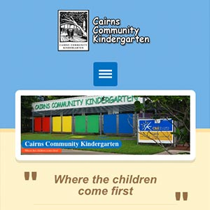 Cairns Community Kindergarten mobile view