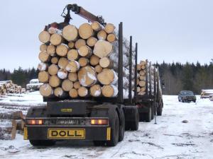 доставка бруса, услуги лесовоза