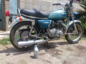1976 Kawasaki KZ400 before 4