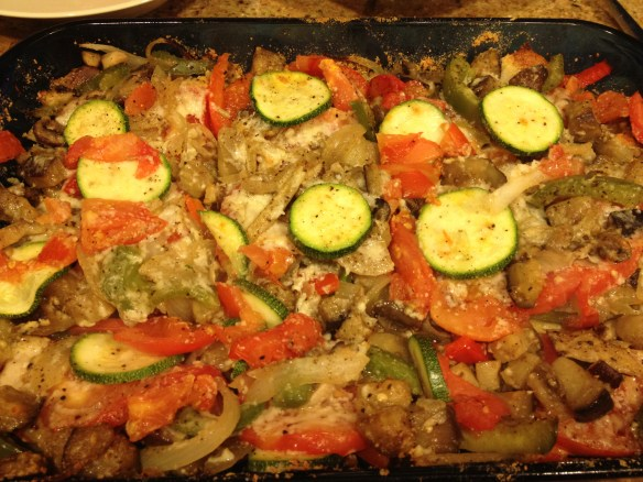 A delicious vegetarian dish made with fresh vegetables, no meat, no sauces...just goodness