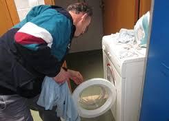 lavadora con puerta al frente