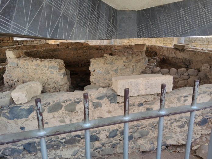The ruins of Peter's house in Capernaum