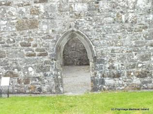 Door in west gable of Urlaur Church