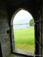Door leading into vaulted room at Urlaur friary