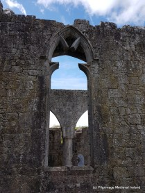Window in west wall of transepth at Askeaton Friary.