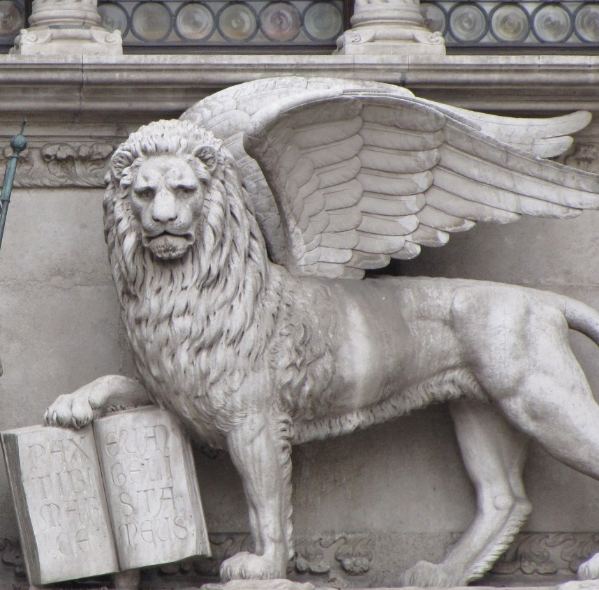 Statue of St. Mark as the Winged Lion - Photo Credit: Debbie Garza