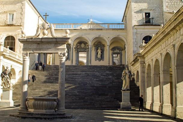 Interior Plaza of Abbey of Montecassino