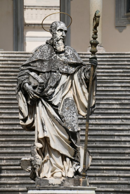 Statue of St. Benedict, Abbey of Monte Cassino, CC BY-SA 4.0, via Wikimedia Commons