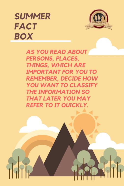 Summer Fact Box