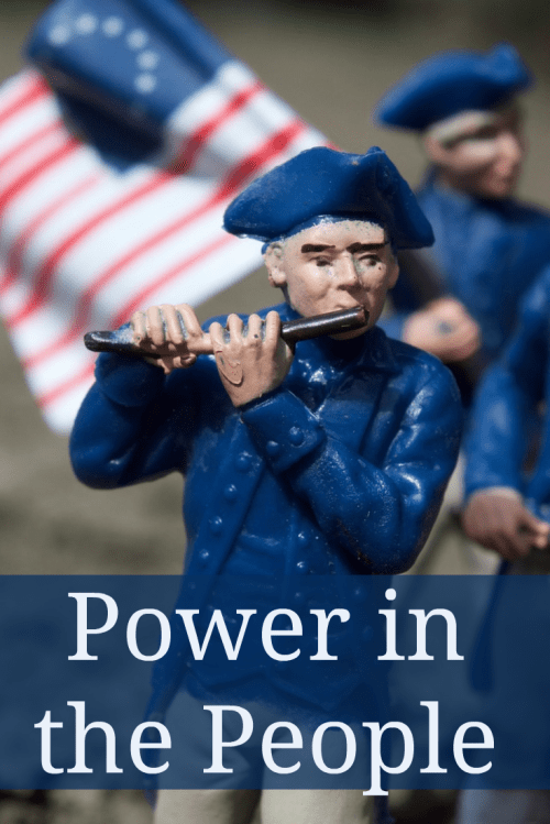 Flow of power in government power in the people