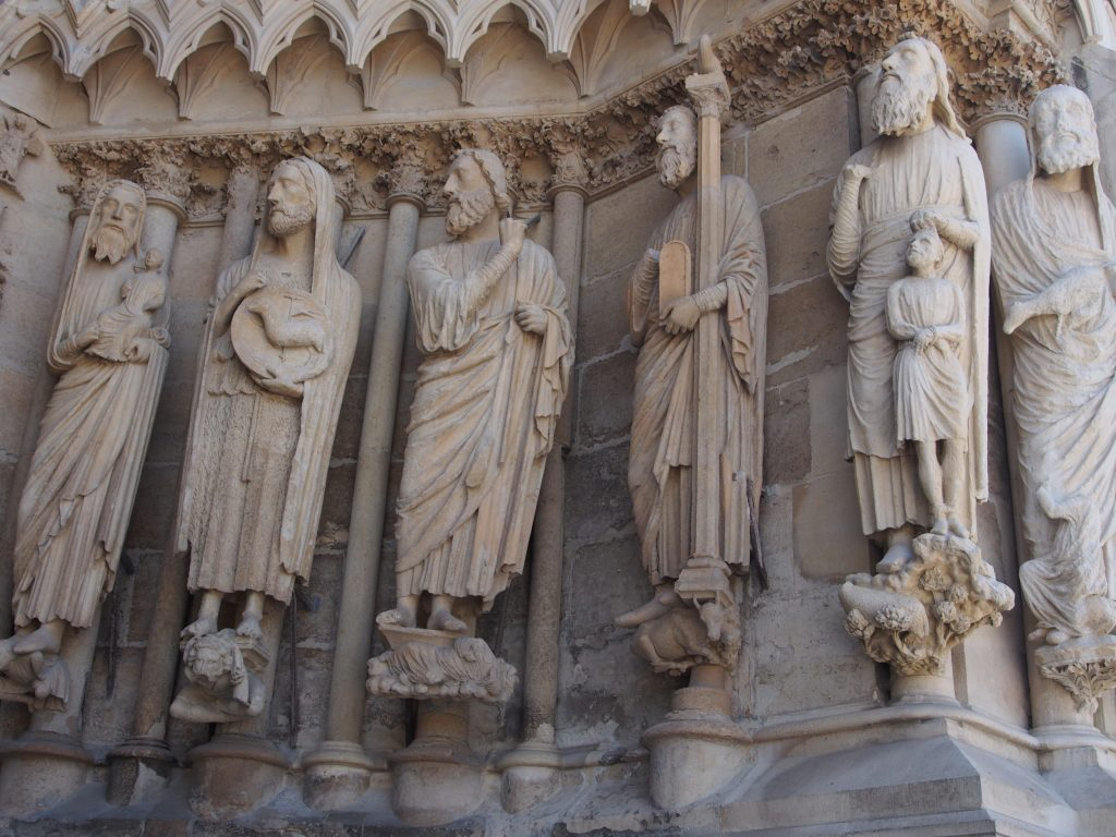 Reims cathedral front