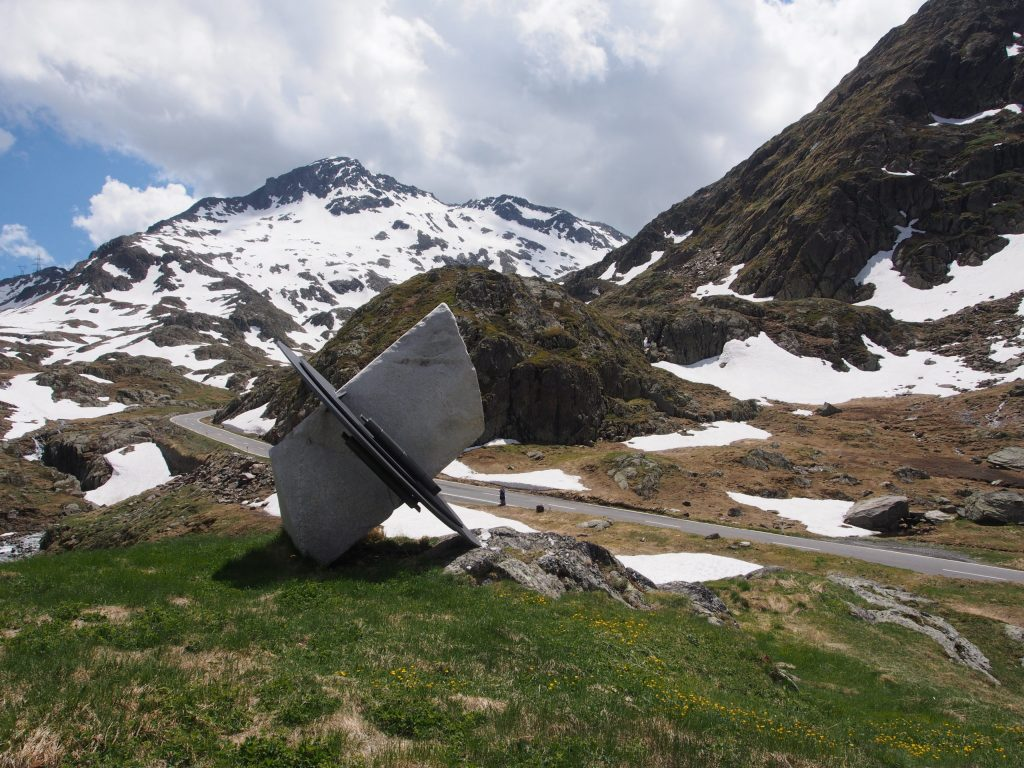 Sculpture on the road up to the Pass
